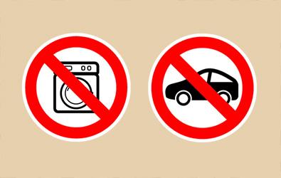 Keine Annahme von Elektrogeräten oder Altfahrzeugen