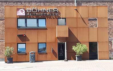 Das unverwechselbare Kassenhaus der Böhner Altmetalle GmbH